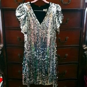 Michael Kors Mirrorball Sequin Dress sz 2